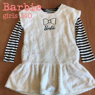 バービー(Barbie)のバービー サンエー ボアチュニックワンピース長袖シャツ 2点セット Barbie(ワンピース)