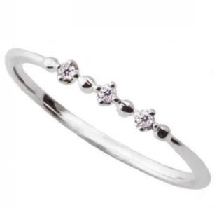 10K WG ダイヤモンドリング(リング(指輪))