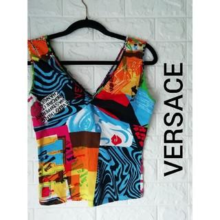 ヴェルサーチ(VERSACE)の(M)ヴェルサーチェ(VERSACE)レディーストップス(Tシャツ(半袖/袖なし))