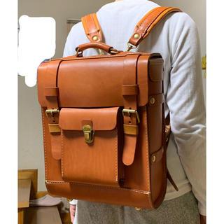 HERZ - HERZ 日本製 本革リュック 手提げバッグ カバン キャメル ガロンリュック