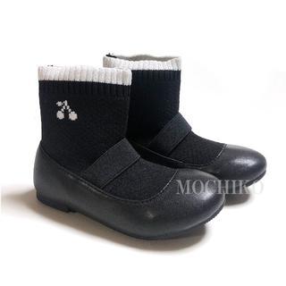 ボンポワン(Bonpoint)のBLACK ソックス ブーツ (ブーツ)