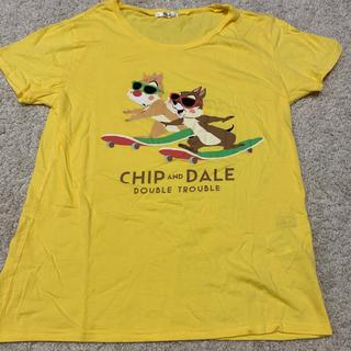 ディズニー(Disney)のDisney チップとデール Tシャツ イエロー(Tシャツ(半袖/袖なし))