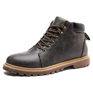 メンズ カジュアルシューズ ワークブーツ レインブーツ メンズ 防水 靴24.5(ブーツ)