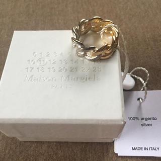 マルタンマルジェラ(Maison Martin Margiela)の18AW新品L メゾンマルジェラ ツートーン チェーンリング 指輪 メンズ(リング(指輪))