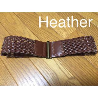 ヘザー(heather)の限定お値下げ♡used♡かわいい♡Heather メッシュウエストベルト ヘザー(ベルト)