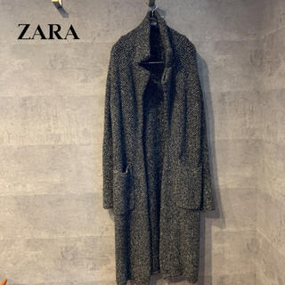 ザラ(ZARA)のZARA ロングニットコート(ニットコート)