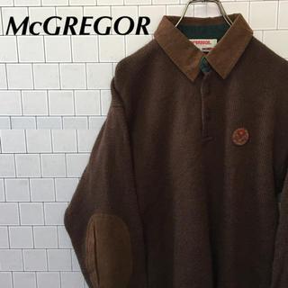 マックレガー(McGREGOR)のマックレガー  ニット セーター エルボーパッチ ワンポイントワッペン(ニット/セーター)