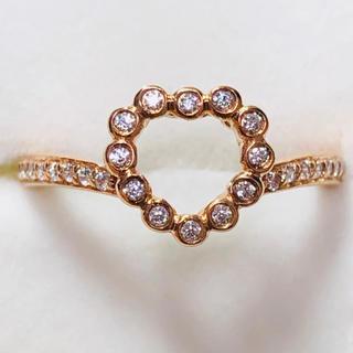 K18PG ハートモチーフのリング(リング(指輪))