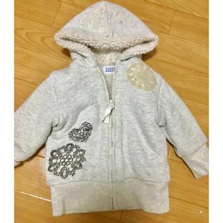 ハッカベビー(hakka baby)のハッカベビー パーカー ボア付き 女の子 80cm 子供服 アウター 冬服 上着(ジャケット/コート)