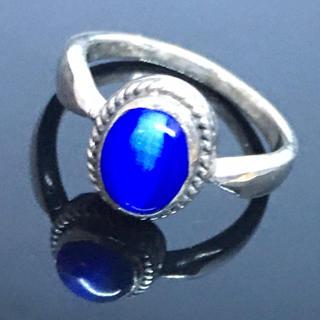 キャッツアイ シルバー925 リング  11号 シンプル 銀 指輪 ギフト(リング(指輪))