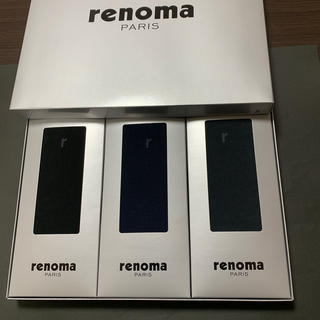 レノマ(RENOMA)のメンズソックス 3足 25センチ(ソックス)