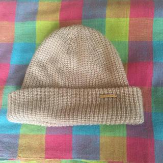 レプシィム(LEPSIM)のLEPSIM ベージュ ニット帽(ニット帽/ビーニー)