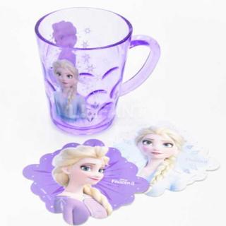 アナトユキノジョオウ(アナと雪の女王)の新作 ! アナと雪の女王 2 コップ カップ キッズ 子供 コースター アナ雪(グラス/カップ)