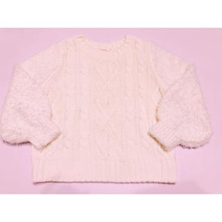 GU - GU 袖ボアセーター 110センチ