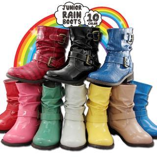 クシュクシュ♪♪キッズレイン HY BY JUNIOR RAIN BOOT 21(ブーツ)
