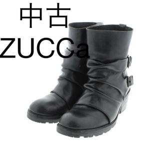 ズッカ(ZUCCa)の新品 定価56100円 ZUCCa 牛革ブーツ ブラック L 大特価‼️(ブーツ)
