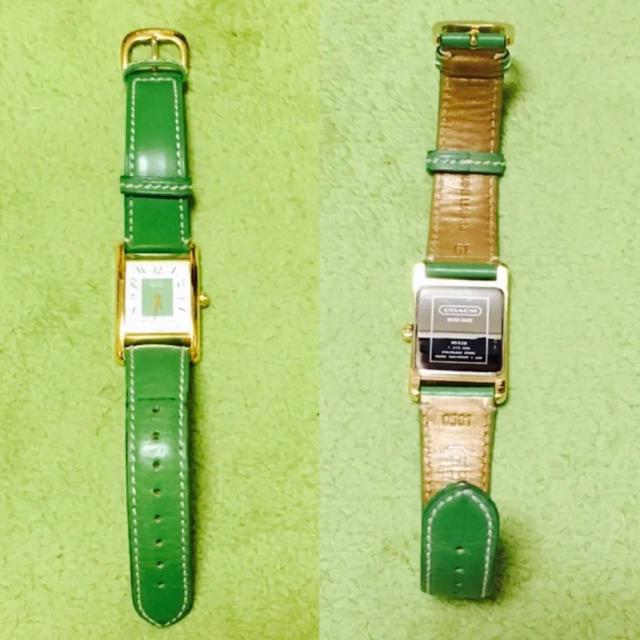 COACH - 美品★コーチ★coach★腕時計★ウォッチ★時計★グリーン★緑★ゴールド★の通販