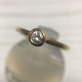 年末セール☆ 一粒ダイヤモンドリング 5号 K18(リング(指輪))