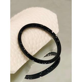 サージカルステンレス製リング ブラック 丸型(リング(指輪))