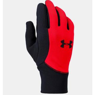 アンダーアーマー(UNDER ARMOUR)の希少 アンダーアーマー 手袋 YLG ブラック レッド ジュニア グローブ(手袋)