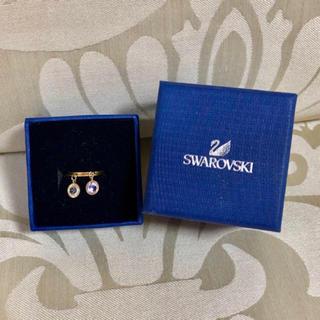 スワロフスキー(SWAROVSKI)のSWAROVSKI スワロフスキー チャーム 2連リング 指輪 ♯9 揺れる(リング(指輪))