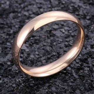 USサイズ10号女性男性4 mmステンレスリングA215RG10(リング(指輪))