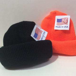 ロスコ(ROTHCO)のロスコニット帽 ブラック&オレンジ  2個(ニット帽/ビーニー)