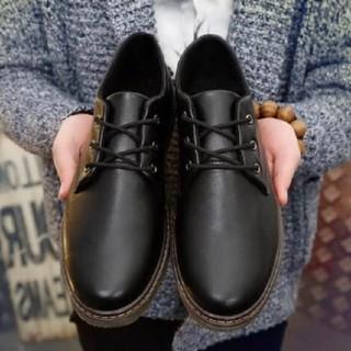 韓国系 イエローステッチ レザー 綺麗目 革靴 ブーツ   (ブーツ)