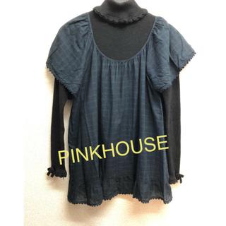ピンクハウス(PINK HOUSE)のピンクハウス チェックカットソー(カットソー(半袖/袖なし))