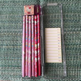 ハローキティ(ハローキティ)のお買い得❣️新品未使用キティちゃんの鉛筆とクリアペンケース(ペンケース/筆箱)