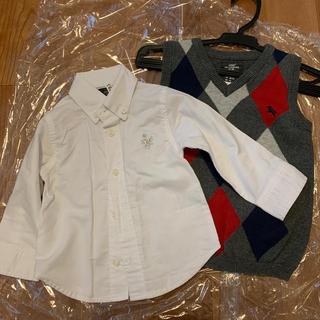 エイチアンドエム(H&M)のベスト&白シャツセット(ドレス/フォーマル)