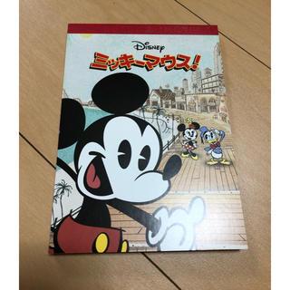 ディズニー(Disney)のミッキーマウス メモ帳 非売品 レトロ(ノート/メモ帳/ふせん)