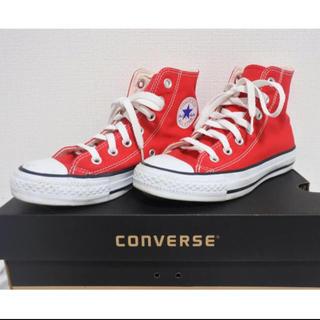 コンバース(CONVERSE)のconverse 赤 スニーカー(スニーカー)