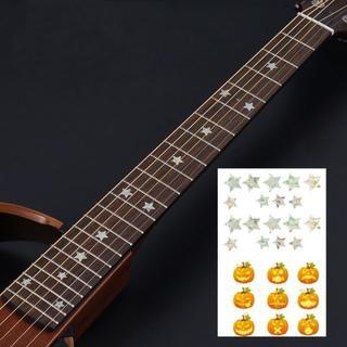 ギター指板フレットボードインレイステッカー【パンプキン】(アコースティックベース)