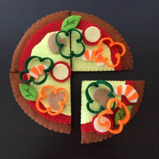フェルトのピザ(おもちゃ/雑貨)