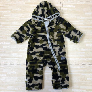 エーアーベー(eaB)のe-baby カモフラ柄ボア ジャンプスーツ(カバーオール)