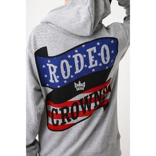 ロデオクラウンズワイドボウル(RODEO CROWNS WIDE BOWL)の今期完売✩RODEO CROWNS✩OL RCSリボンロゴビッグパーカー(パーカー)