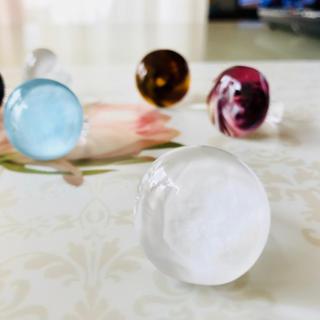 プラスヴァンドーム(Plus Vendome)の【年末スペシャルSALE♡】ベネチアングラスのリング ホワイト まる(リング(指輪))
