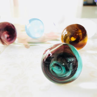 プラスヴァンドーム(Plus Vendome)の【年末スペシャルSALE♡】ベネチアングラスのリング グリーン   まる(リング(指輪))