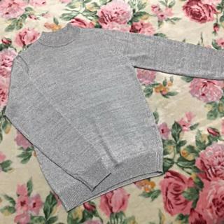 アーモワールカプリス(armoire caprice)のシルバー  長袖 ニットセーター (ニット/セーター)