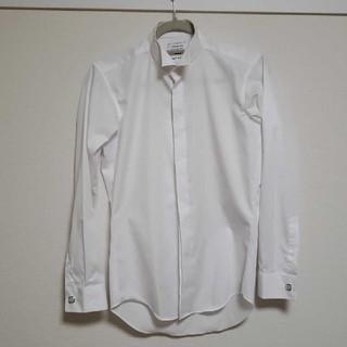アオキ(AOKI)のAOKI 礼服用長袖シャツ ウィングカラー Sサイズ カフスボタン付き(シャツ)