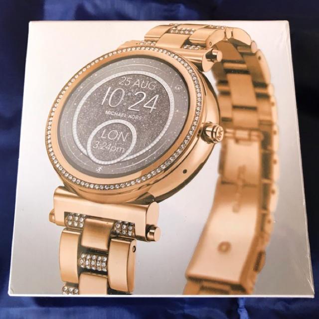 スーパー コピー ブレゲ 時計 有名人 - Michael Kors - マイケルコース Sofie スマートウォッチMKT5023 ゴールド ビジューの通販 by uguisu's shop