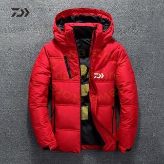秋冬ダイワパーカー釣りジャケット冬釣りスーツ厚みの熱ジッパーポケット釣りシャツ男(ウエア)