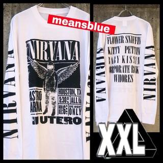 ONE OK ROCK - 白XXL◆長袖Tシャツ/ ニルヴァーナ INUTERO ポスター ◆