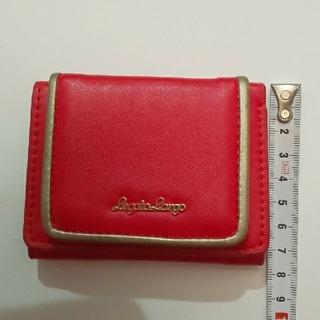 レガートラルゴ(Legato Largo)の美品 三つ折り 財布 赤 ゴールド(財布)