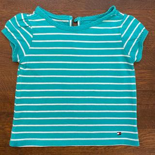 トミーヒルフィガー(TOMMY HILFIGER)のトミーヒルフィガー Tシャツ サイズ6-9ヶ月 夏用 ボーダー 女の子(シャツ/カットソー)