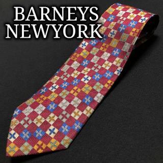 バーニーズニューヨーク(BARNEYS NEW YORK)のバーニーズニューヨーク フラワー ワインレッド ネクタイ A102-K04(ネクタイ)
