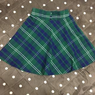 ティティアンドコー(titty&co)のティティ&コー♡チェック柄♡ミニスカート♡緑(ミニスカート)