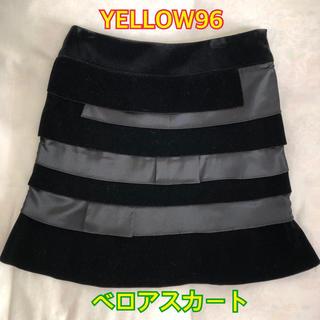 イエロー(yellaw)のイエロー96 ベロアスカート(ミニスカート)