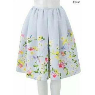 チェスティ(Chesty)の最終値下げ 🌸Chesty バードプリントスカート♡chesty 小鳥 花柄(ひざ丈スカート)